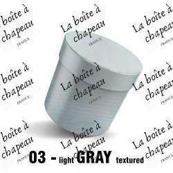 Boîte à chapeau grise
